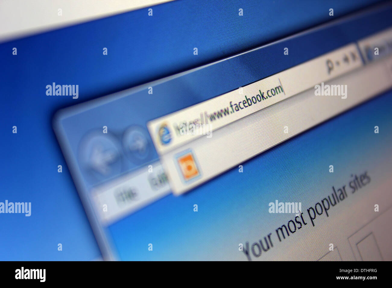 Facebook url - Stock Image