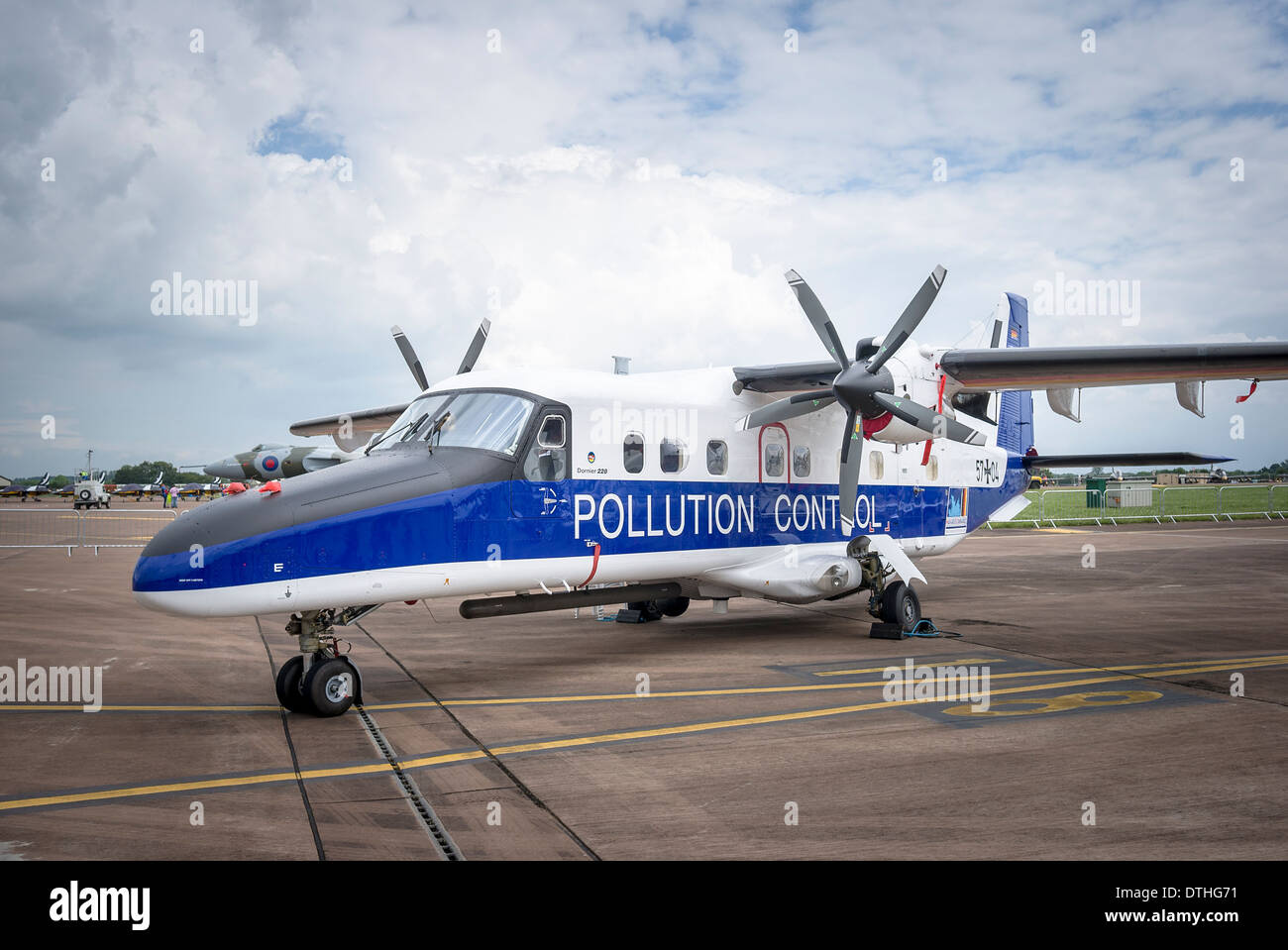 POLLUTION CONTROL Dorner 228 twin-engine patrol aircraft at a British airshow 2012 - Stock Image