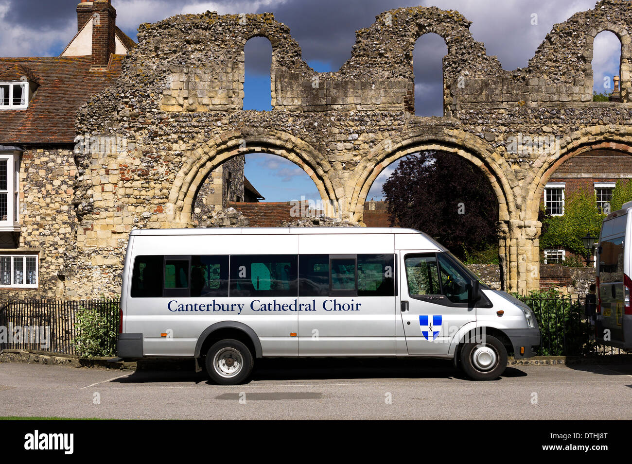 Coach dedicated to the cathedral choir in Canterbury Kent UK - Stock Image