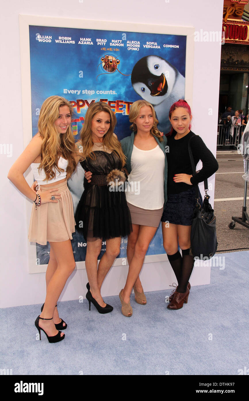 E.G. Daily and family at the 'Happy Feet Two' World Premiere, Chinese Theater, Hollywood, CA 11-13-11 - Stock Image