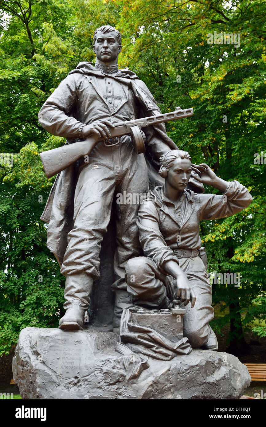 Memorial to Warrior scout in Victory Park, Kaliningrad (before Koenigsberg), Russia - Stock Image