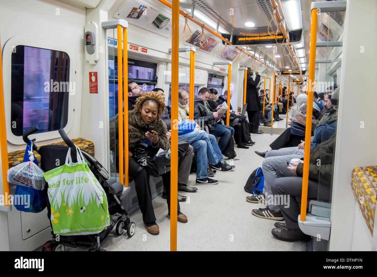 Overground train, London, United Kingdom - Stock Image