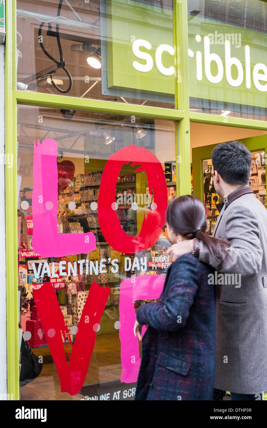 Shops on Wardour street, London, United Kingdom - Stock Image