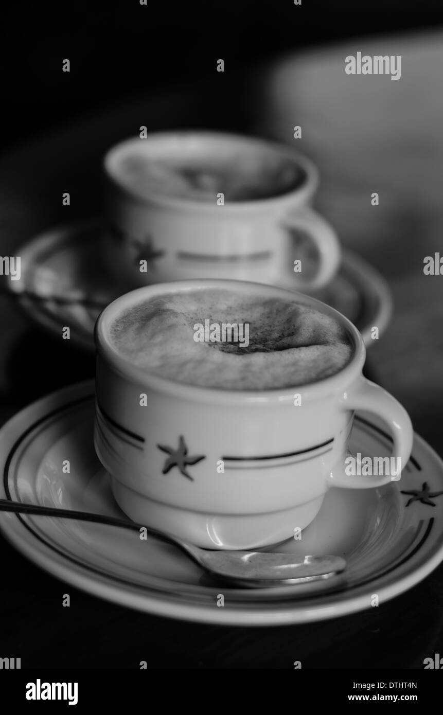 Ibersotar Mexico Coffee Cup with Cappuccino - Stock Image