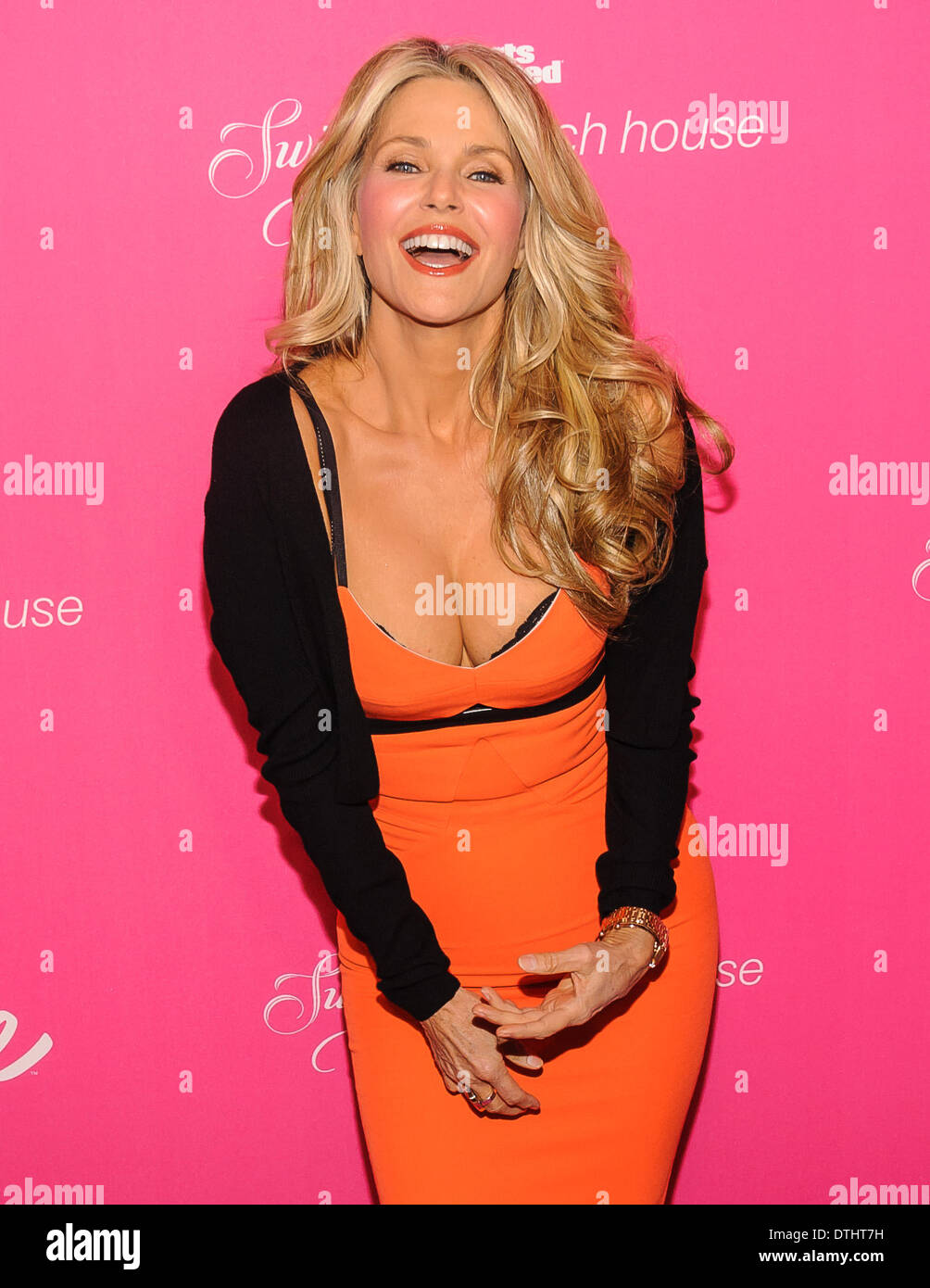 New York City, USA, 17 February, 2014. Model Christie Brinkley arrives at a 50th Anniversary party for Sports Illustrated Swimsuit in Soho, NYC. Credit:  Patrick Morisson/Alamy Live News Stock Photo