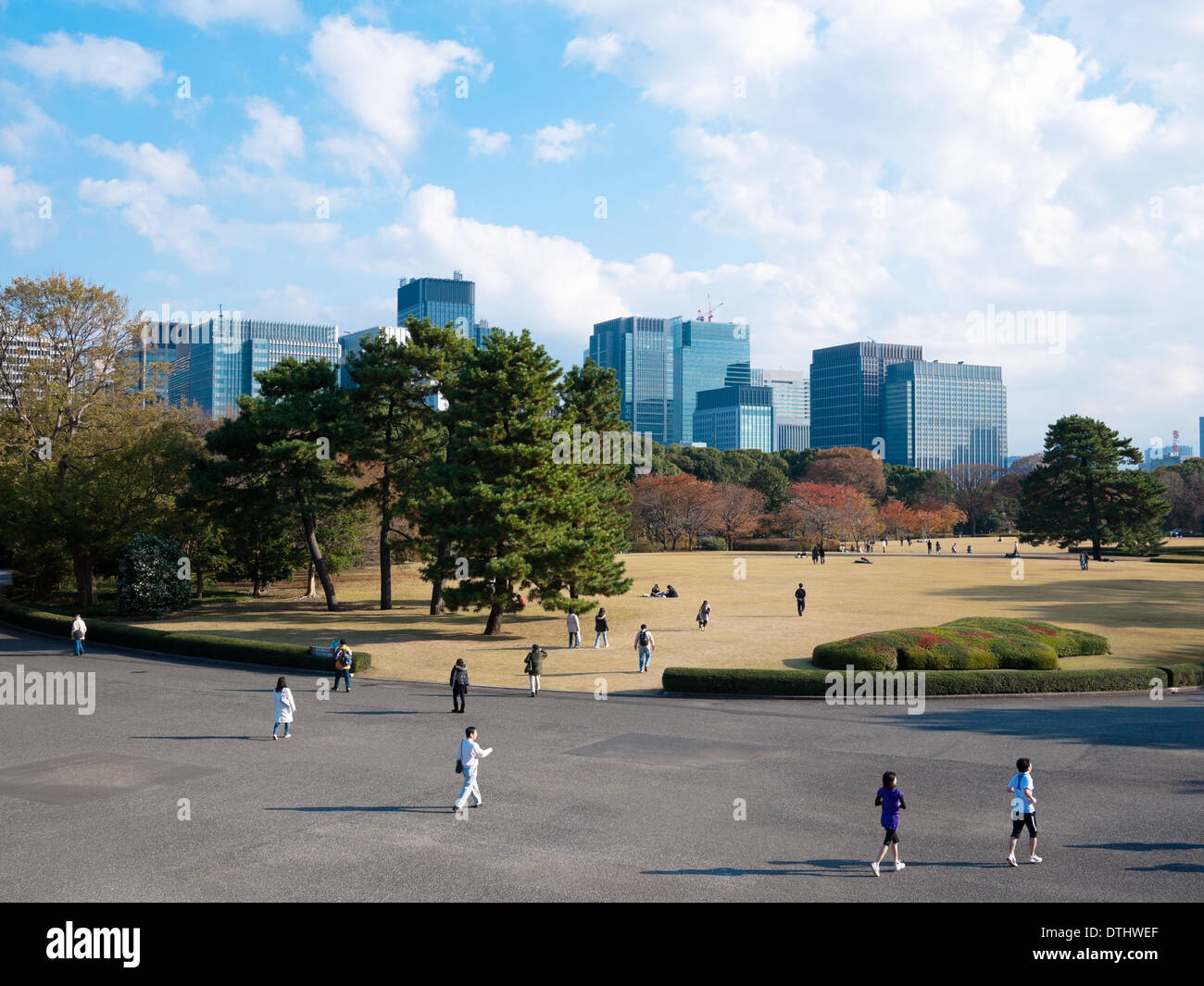 A view of the East Gardens of the Tokyo Imperial Palace in Tokyo, Japan. Stock Photo
