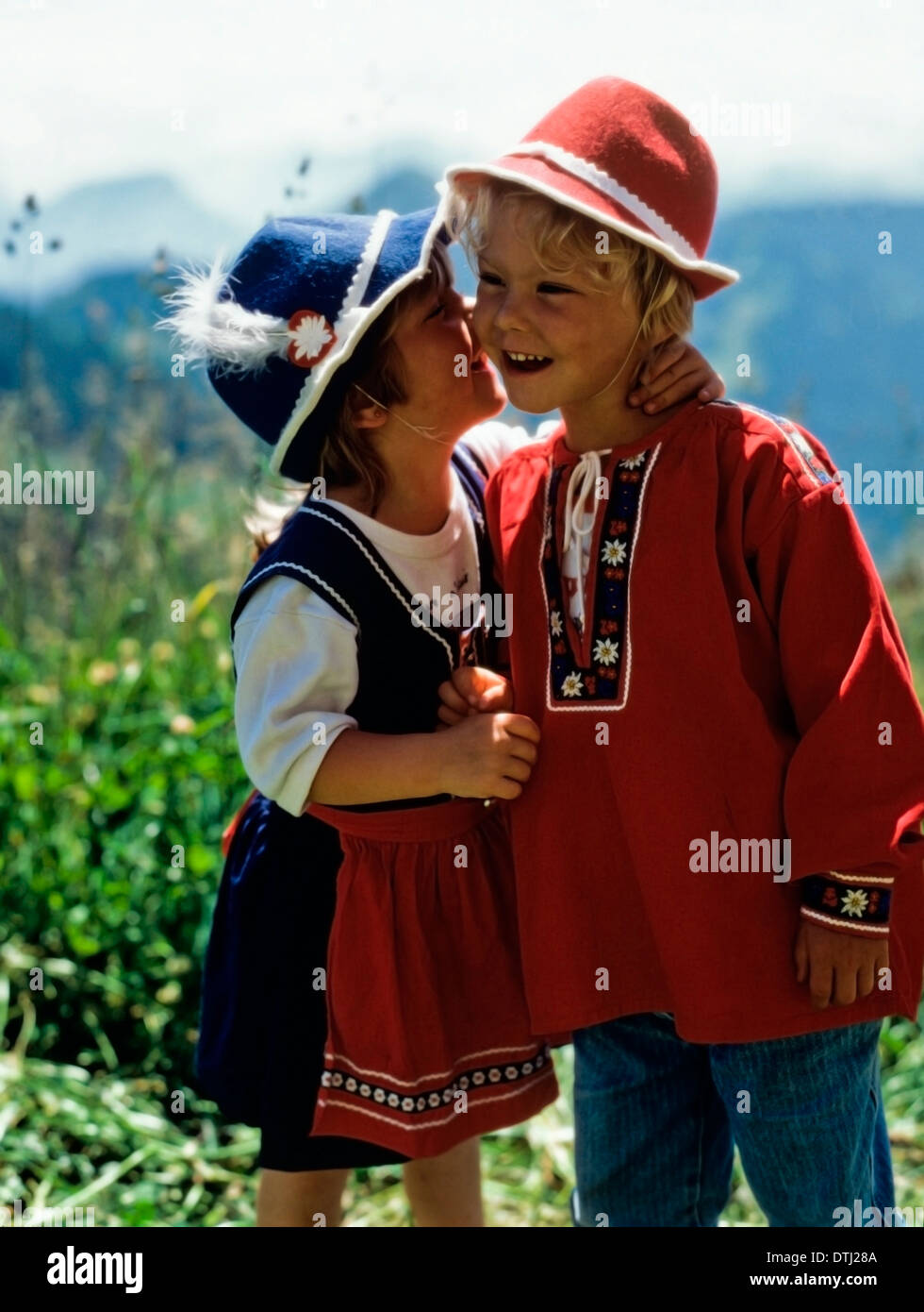 8f10b45cf Swiss boy and girl in traditional attire Stock Photo: 66779786 - Alamy