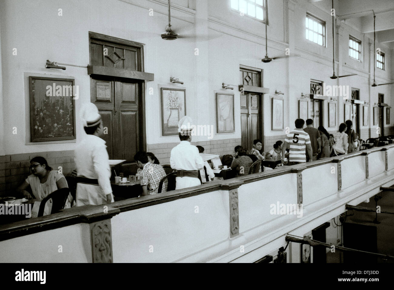 College Street Coffee House in Kolkata Calcutta in West Bengal in India in South Asia. Service The Raj Food Drink Life Nostalgia Travel Wanderlust - Stock Image