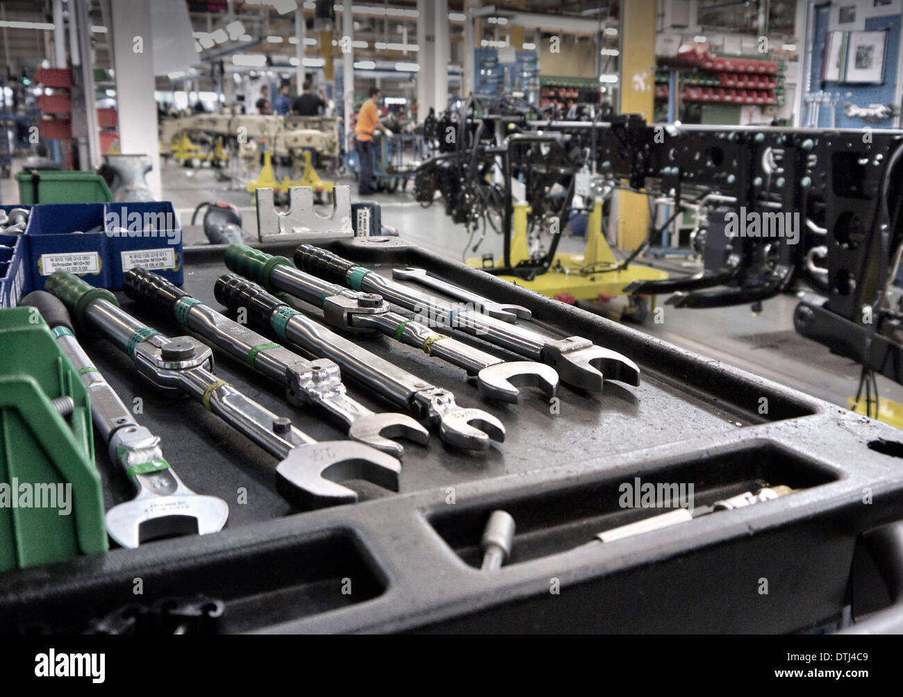 Special Vehicle production line Mercedes Benz Factory Worth Germany. - Stock Image