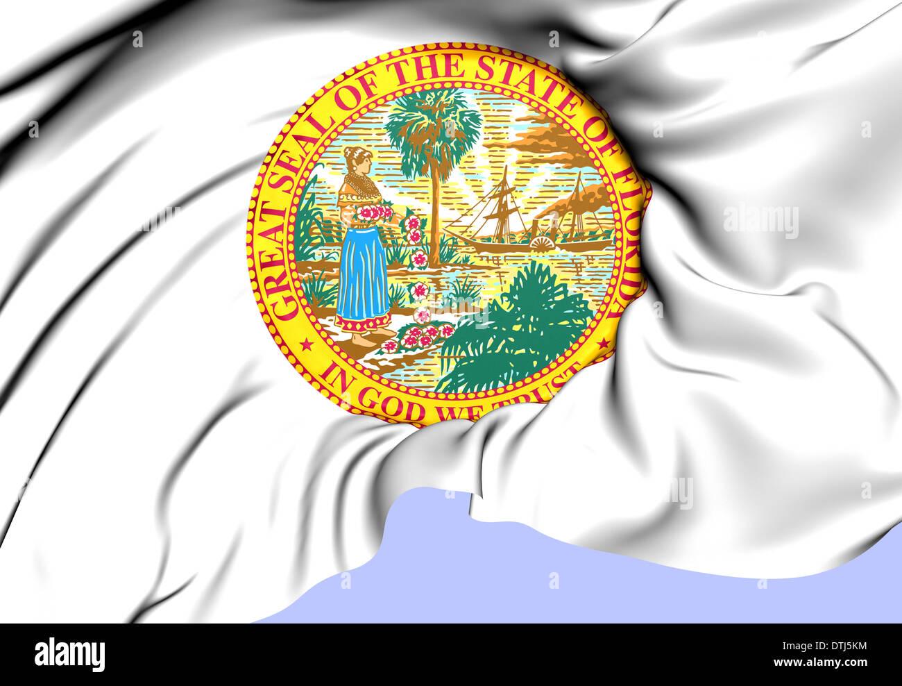 State Seal Of Florida Usa Close Up Stock Photo Alamy