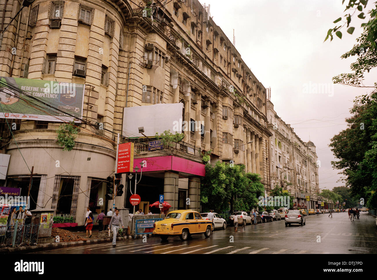 Famous Flurys tearoom in Park Street in Kolkata Calcutta in West Bengal in India in South Asia. Tea Cafe Cake Shop Patisserie Culture Travel - Stock Image