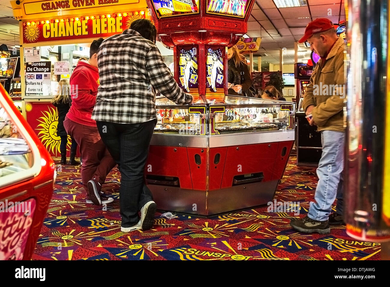 The interior of an amusement arcade in Southend. - Stock Image