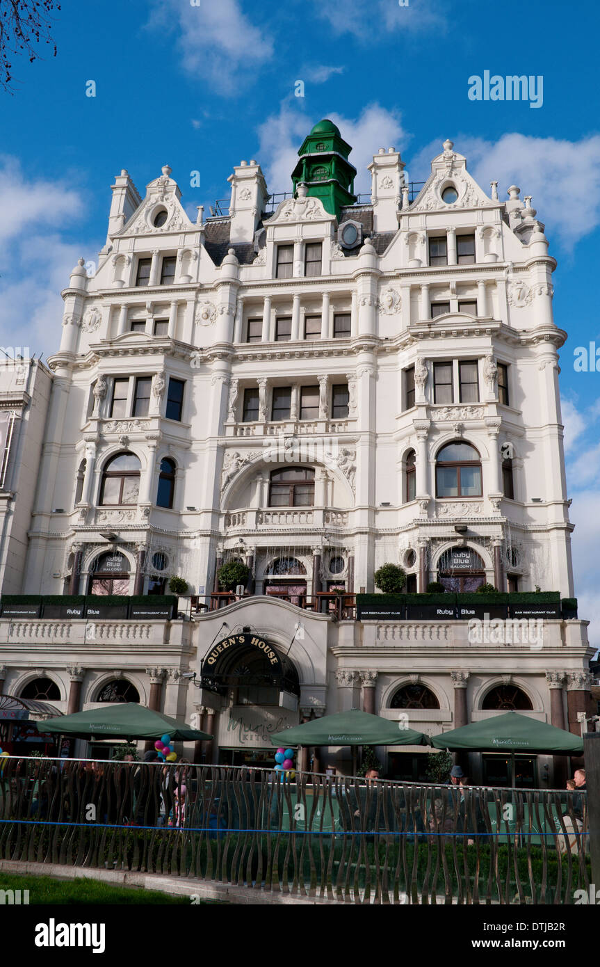 Queen's House, Leicester Square, London, Uk - Stock Image