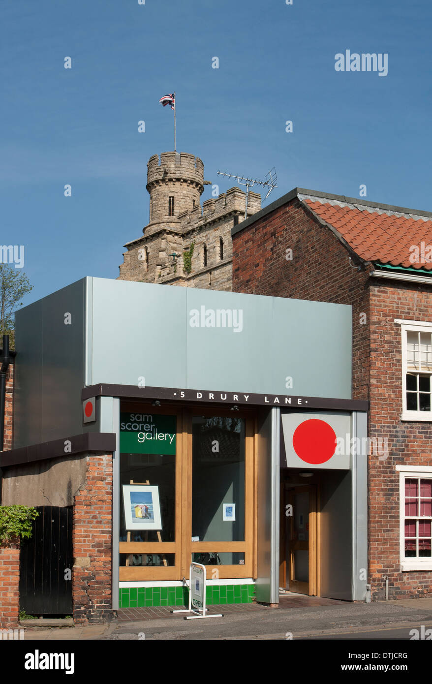 Sam Scorer Gallery, Lincoln, Lincolnshire, England UK - Stock Image