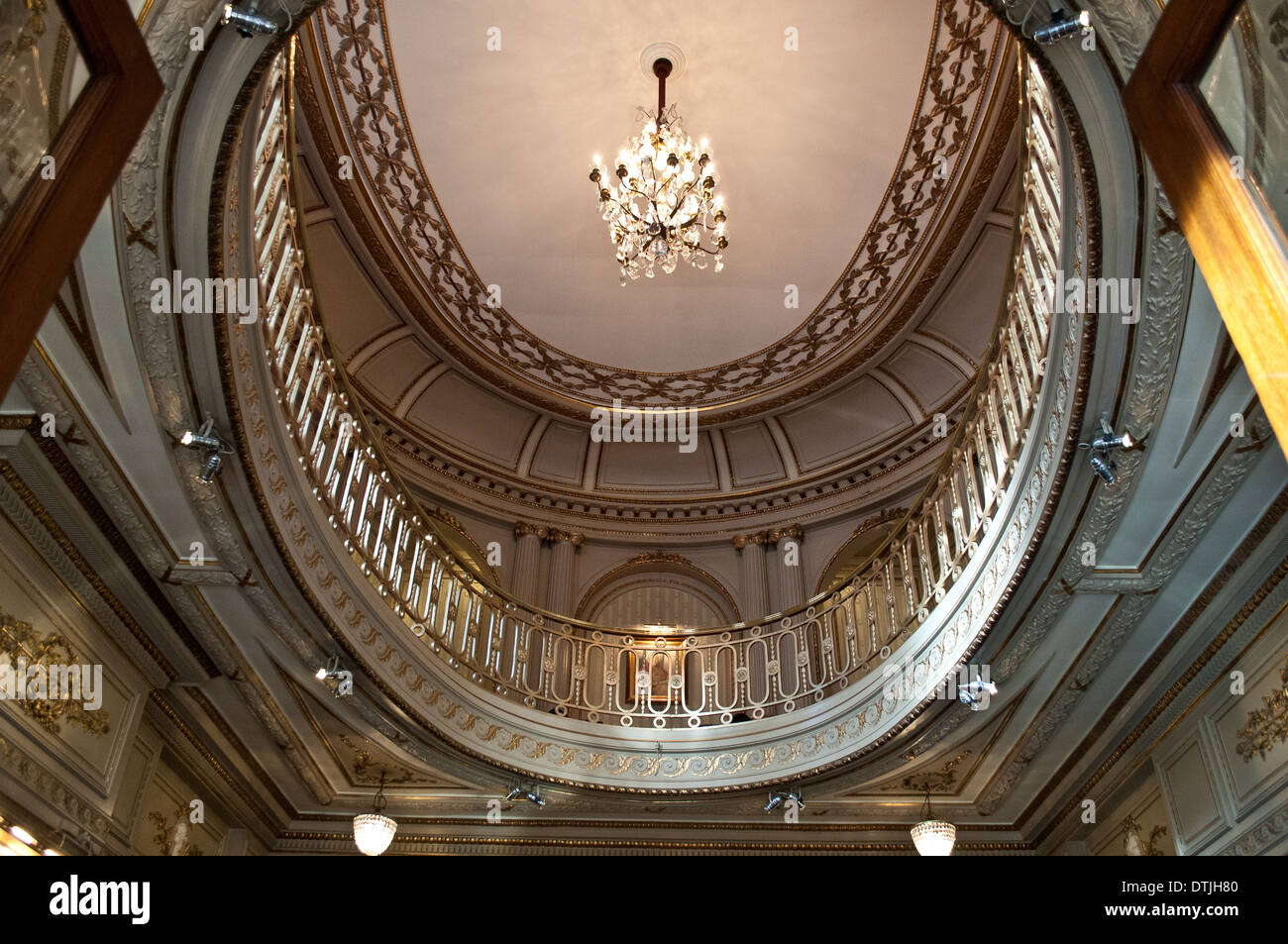 Gielgud theatre foyer ceiling in Shaftesbury Avenue, London, WC2, UK - Stock Image