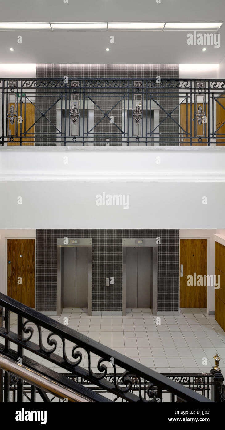 Lobby with lifts, Blackfriars House, Manchester, Greater Manchester - Stock Image
