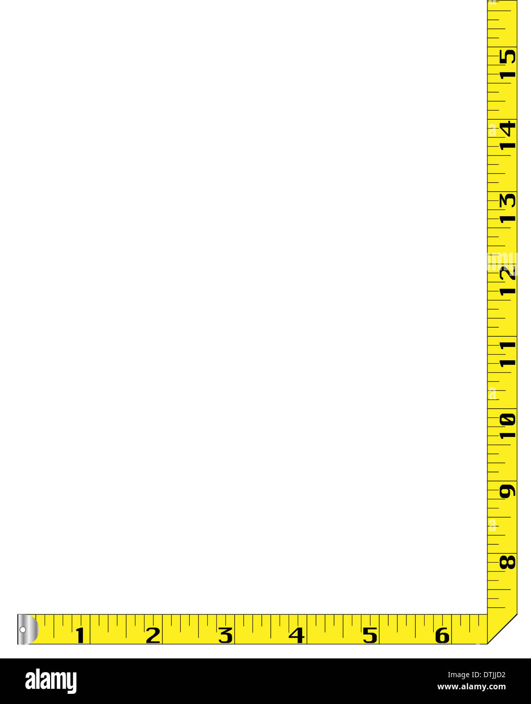 Measuring Tape Page Border Diagram A Created From Rag Measure Stock Photo 66792462 Rh Alamy Com