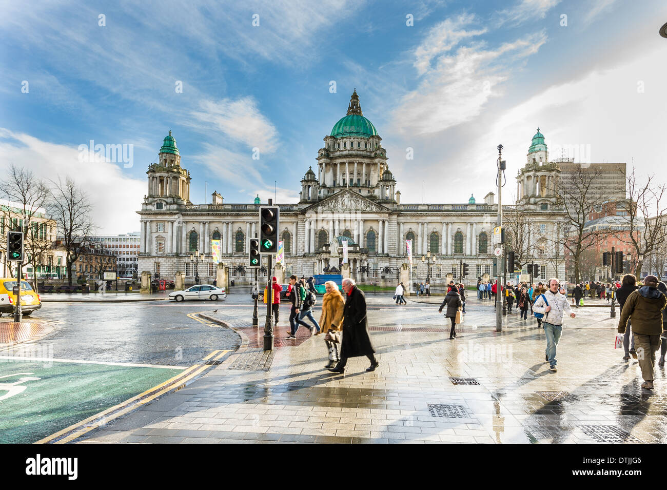 Belfast City Hall is Belfast City Council's civic building. It is located in Donegall Square, in the heart of - Stock Image