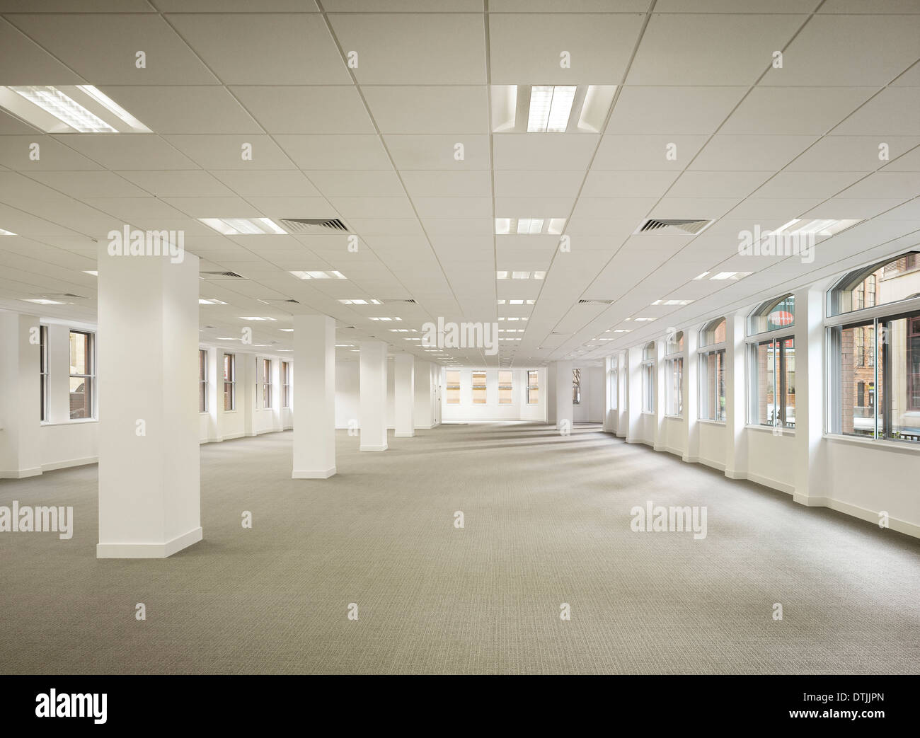 Interior Of Empty Office Space In Commercial Building, King Street, Leeds,  Yorkshire.