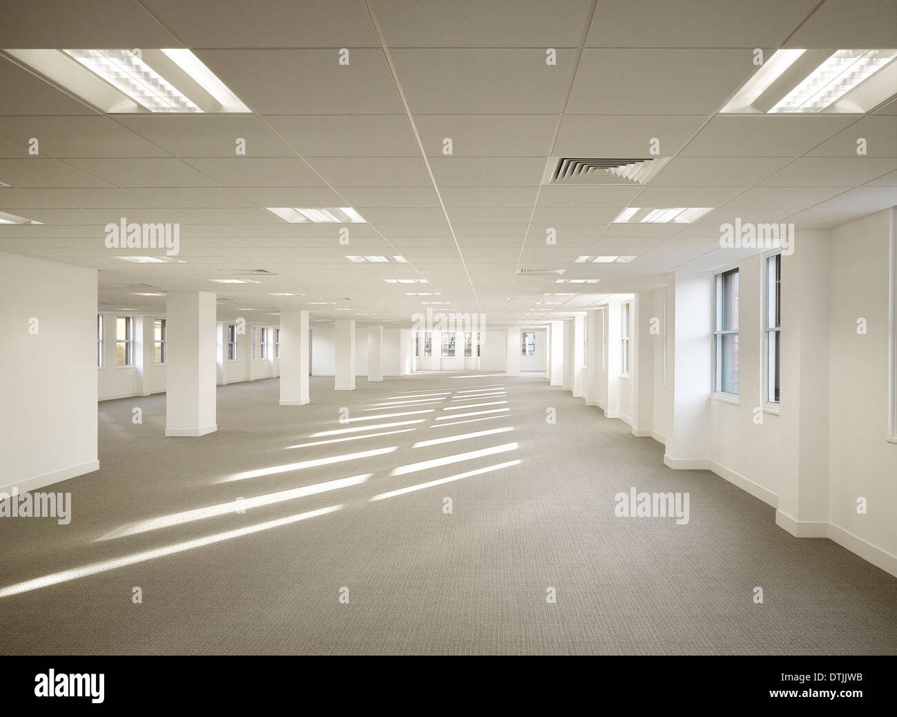 Empty interior of commercial building, King Street, Leeds, Yorkshire. - Stock Image