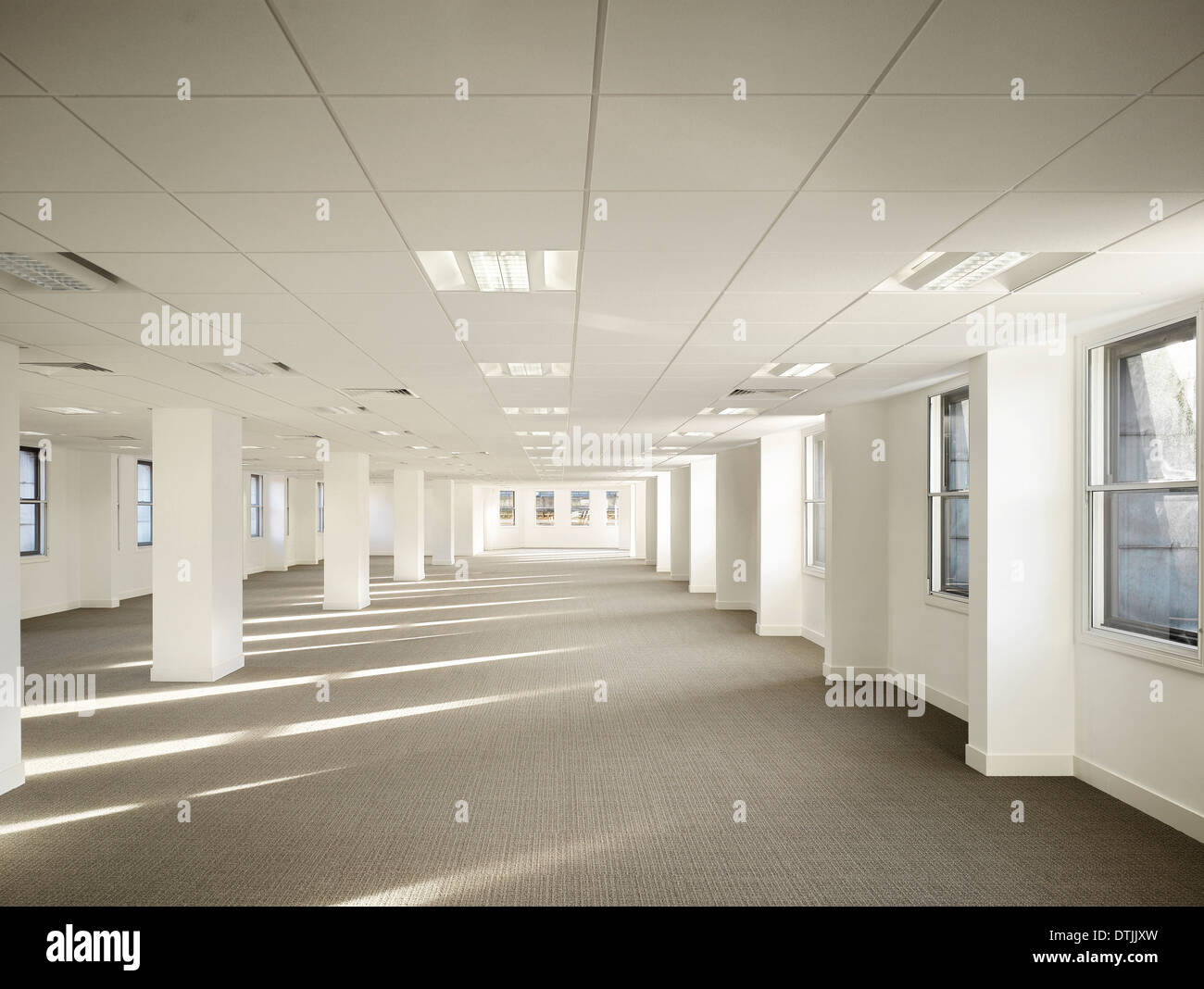 interior of empty office space in commercial building king street