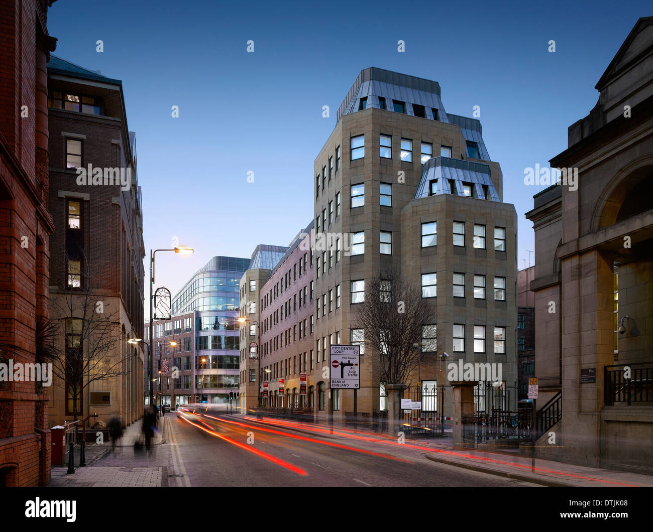 Exterior of commercial building on King Street, Leeds, Yorkshire. - Stock Image