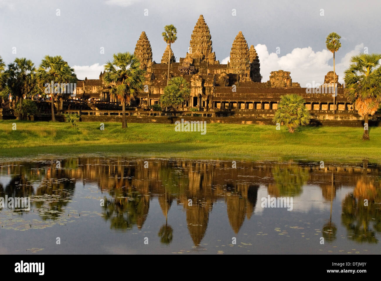 Angkor Wat Temple. The temples of Angkor are highly symbolic structures. The foremost Hindu concept is the temple-mountain, wher - Stock Image