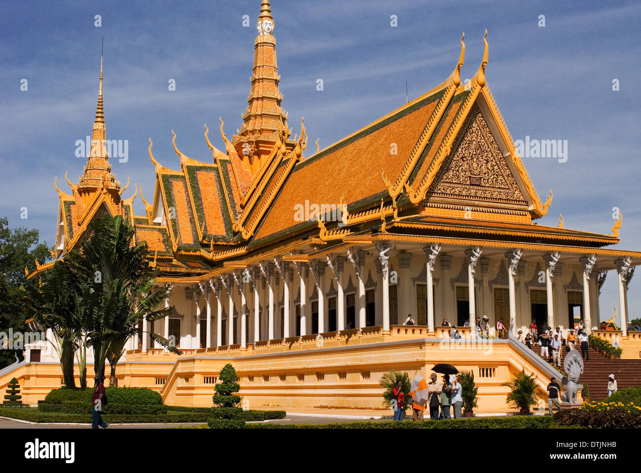 Royal Palace. Phnom Penh. The Royal Palace in Phnom Penh was constructed over a century ago to serve as the residence Stock Photo