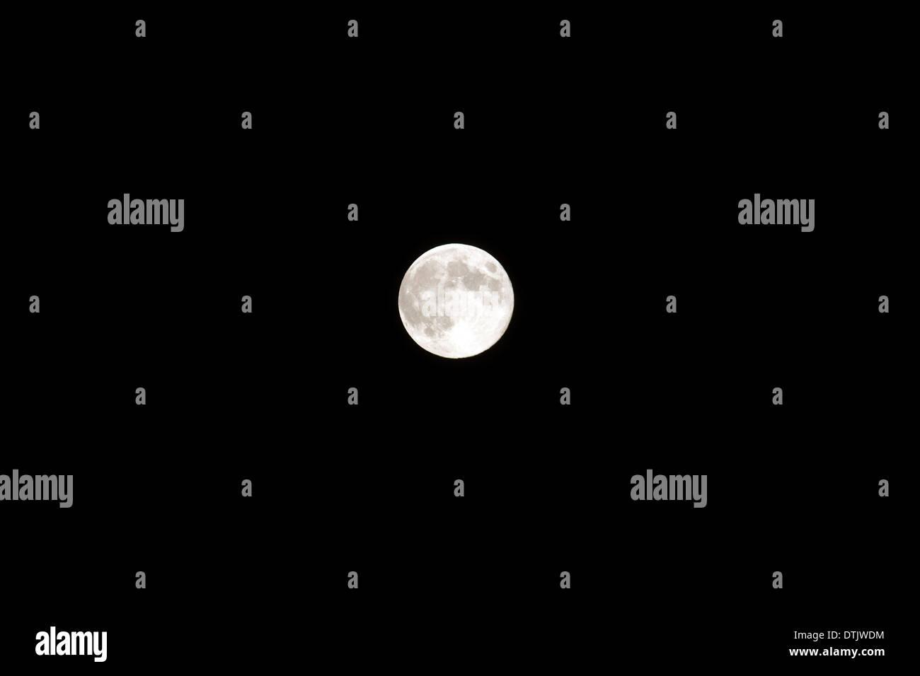 Full moon in the night sky. - Stock Image