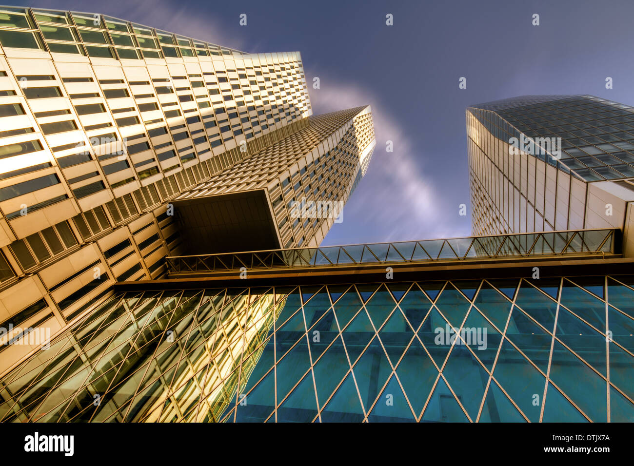 Lofty Heights: Cracked Shapes - Stock Image