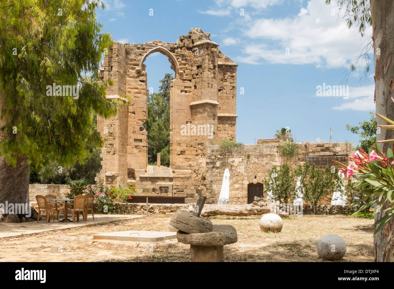 Ancient Ruins in Famagusta Cyprus - Stock Image