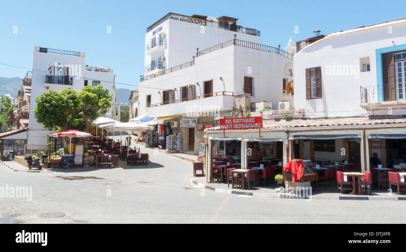 Streets in Kyrenia Cyprus near the Harbour - Stock Image