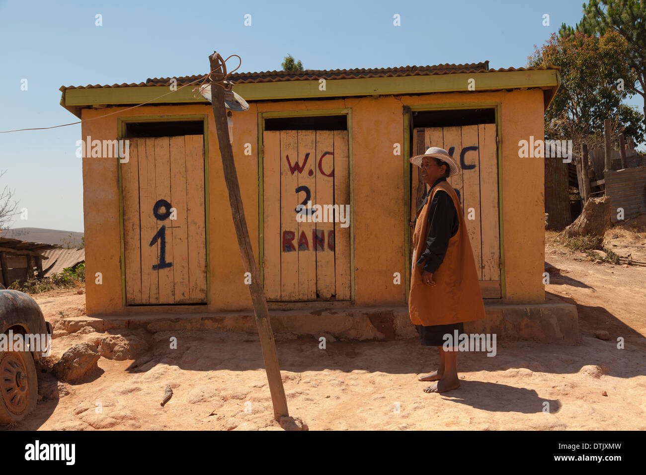 Madagascan toilet - Stock Image