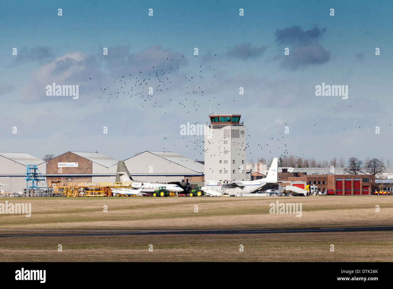 Cambridge airport, Cambridgeshire, England UK - Stock Image