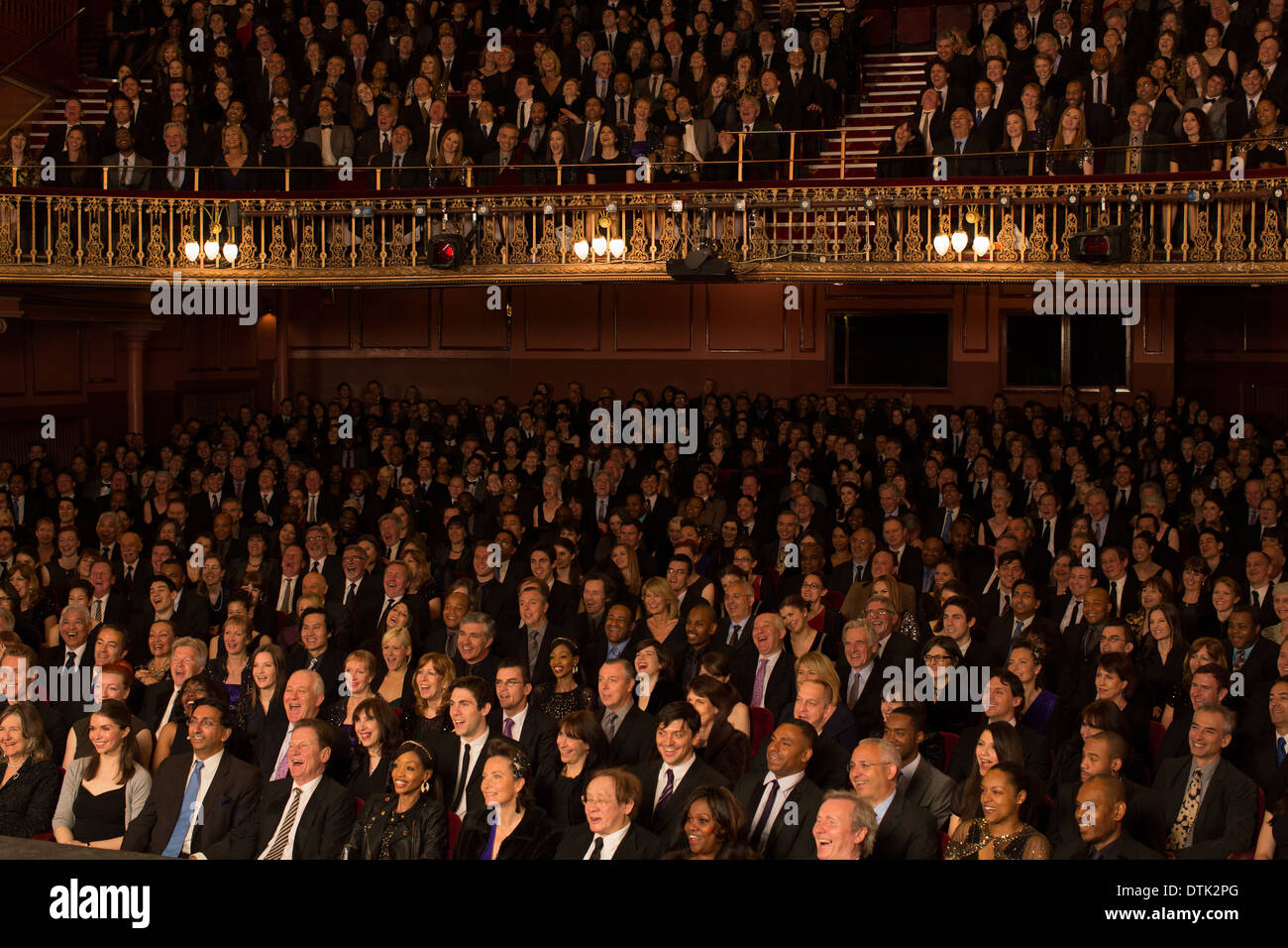 Audience sitting in theater - Stock Image