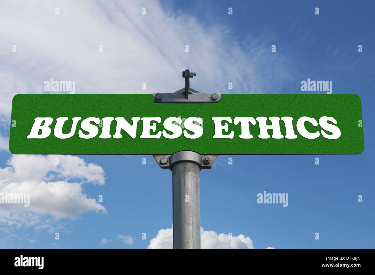 Business ethics road sign - Stock Image