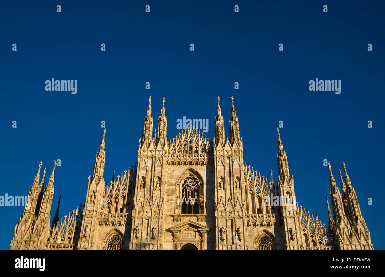 View of the Duomo of Milan. Italy. - Stock Image