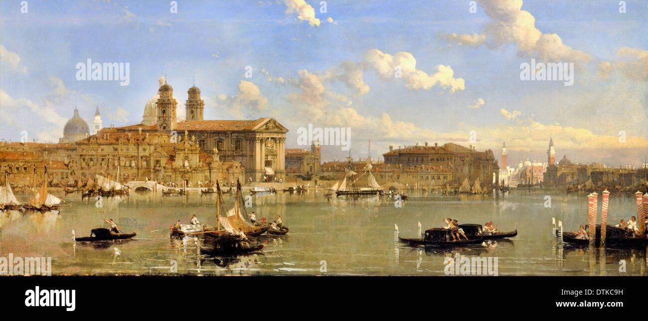 David Roberts, The Giudecca, Venice 1854 Oil on canvas. Yale Center for British Art, New Haven, USA. - Stock Image