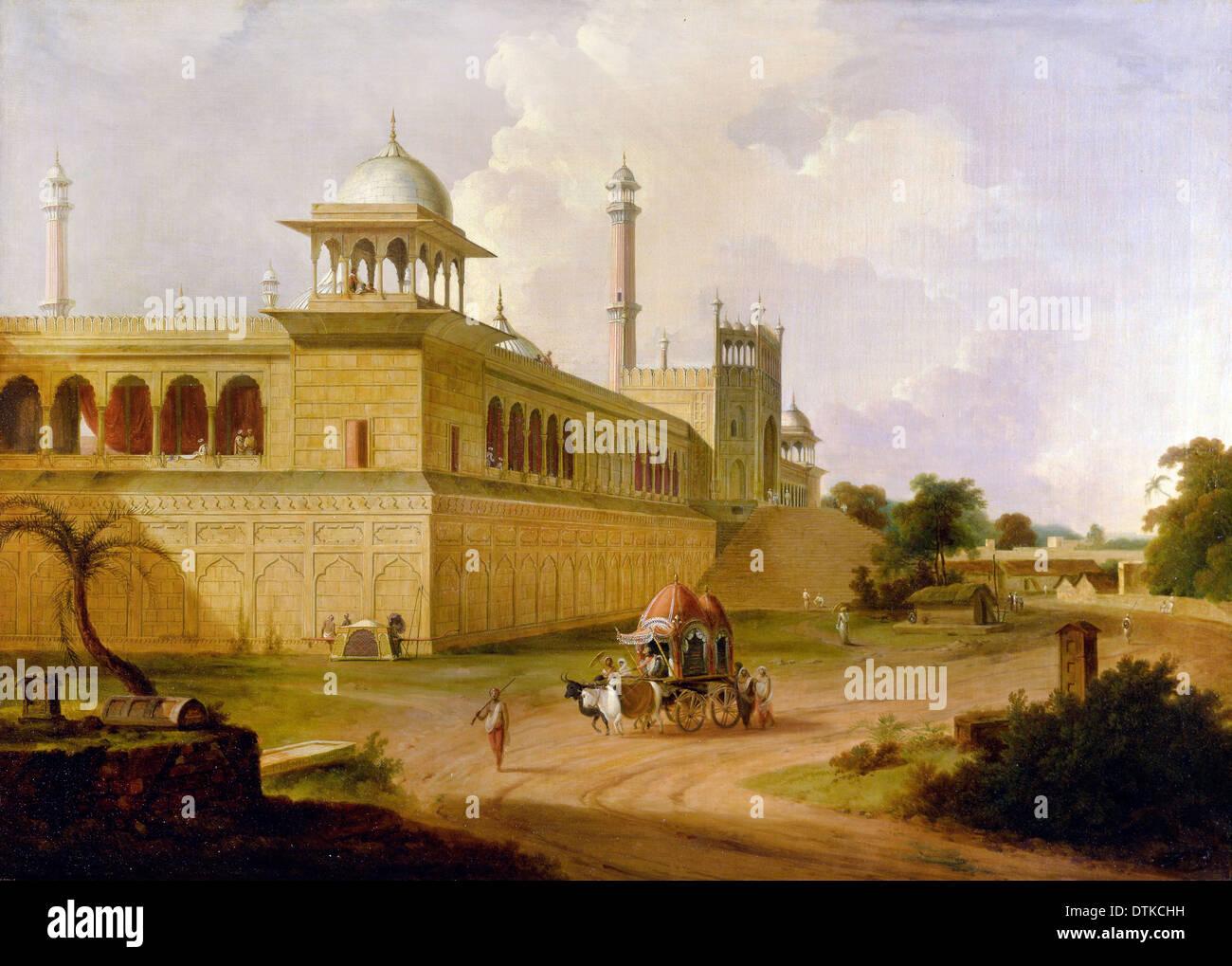 Arthur Devis, Jami Masjid, Delhi 1811 Oil on canvas. Yale Center for British Art, New Haven, USA. - Stock Image