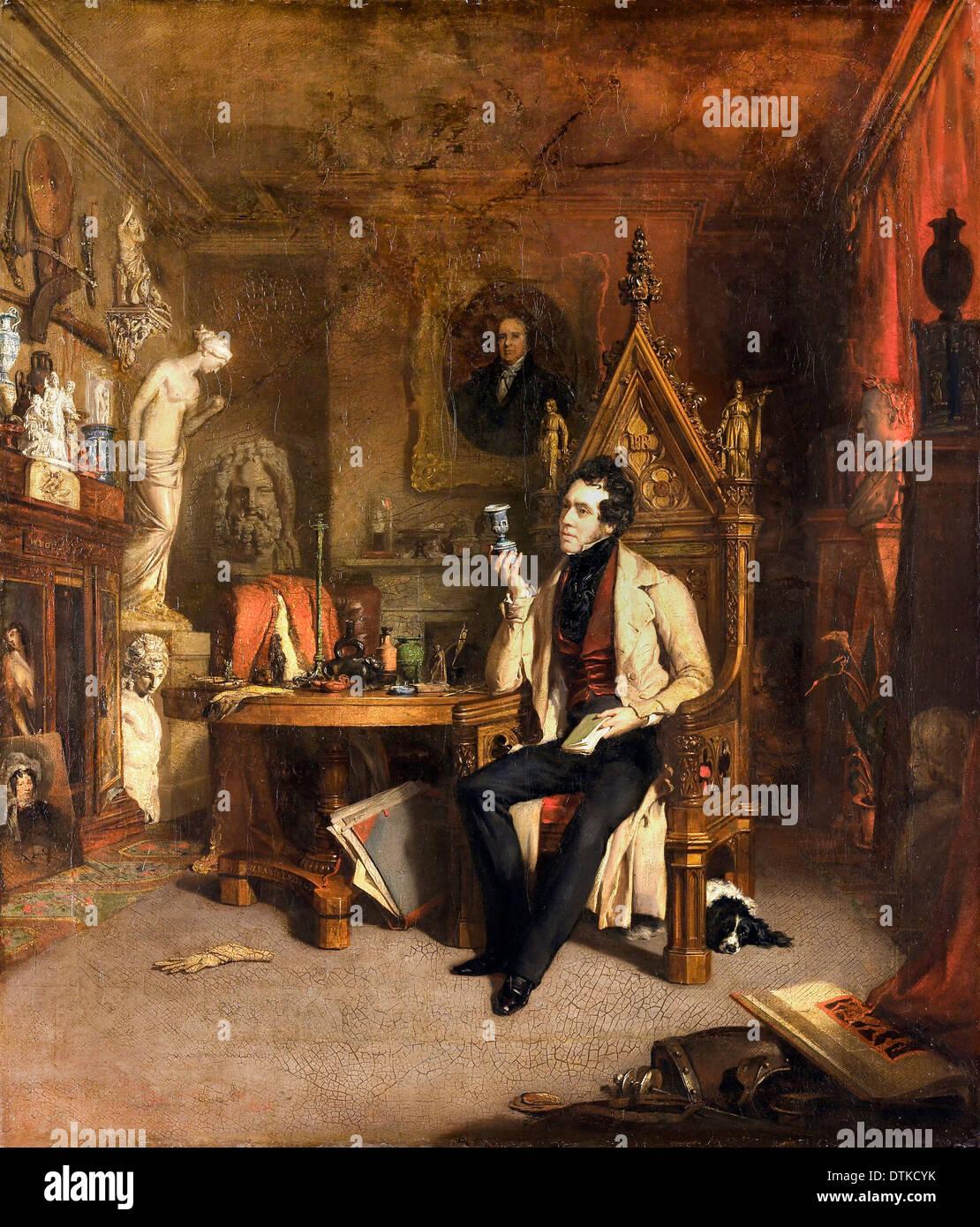 William Daniels, Joseph Mayer 1843 Oil on canvas. Walker Art Gallery, Liverpool, England. Stock Photo