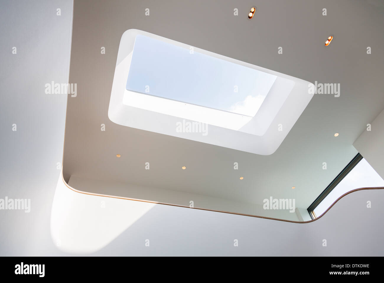 Skylight and recessed lights of modern house stock photo 66810842 skylight and recessed lights of modern house aloadofball Images