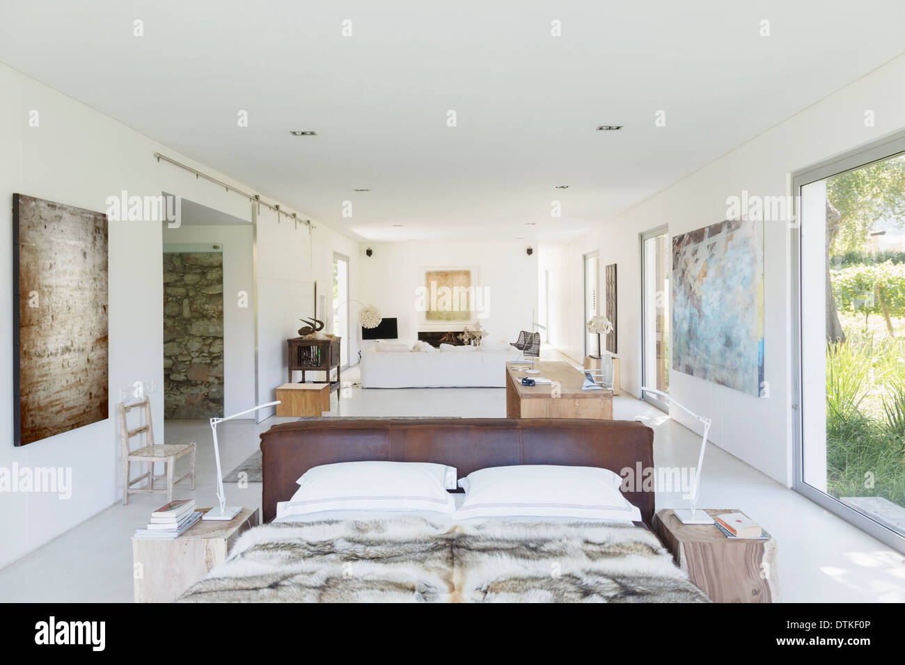 Open Floor Plan In Modern House Stock Photo 66811718 Alamy