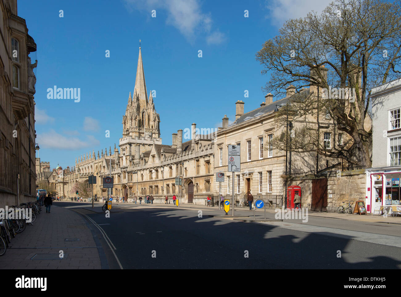 University Church of St Mary The Virgin in the High Street Oxford - Stock Image