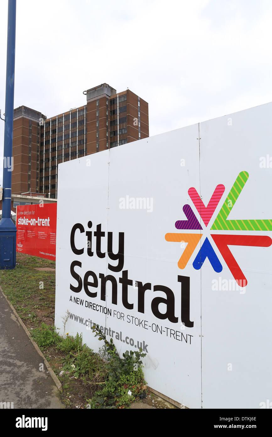 City Sentral development site in Hanley, Stoke on Trent. - Stock Image
