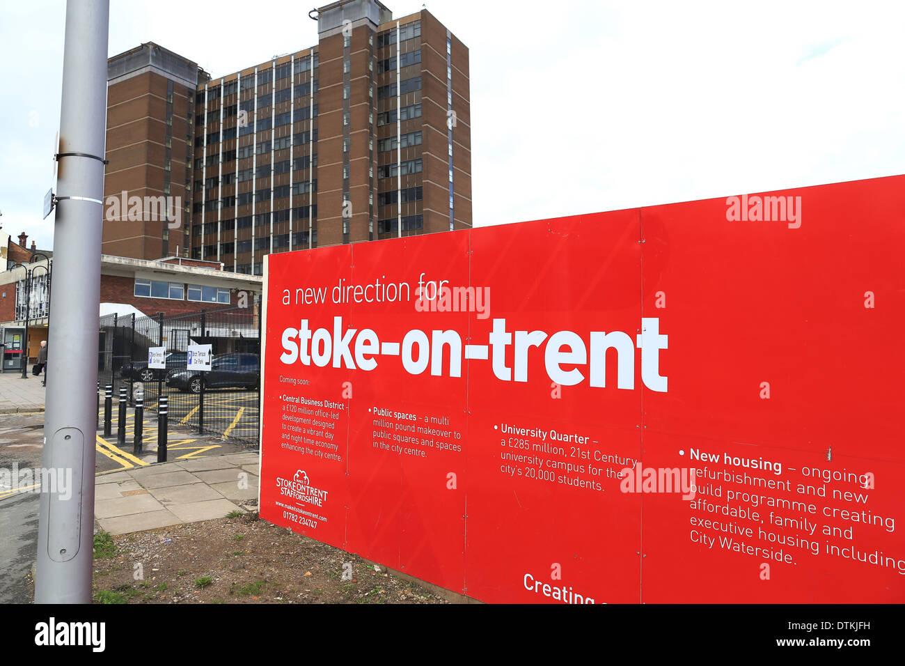 Stoke on Trent City centre, city sentral, hanley - Stock Image