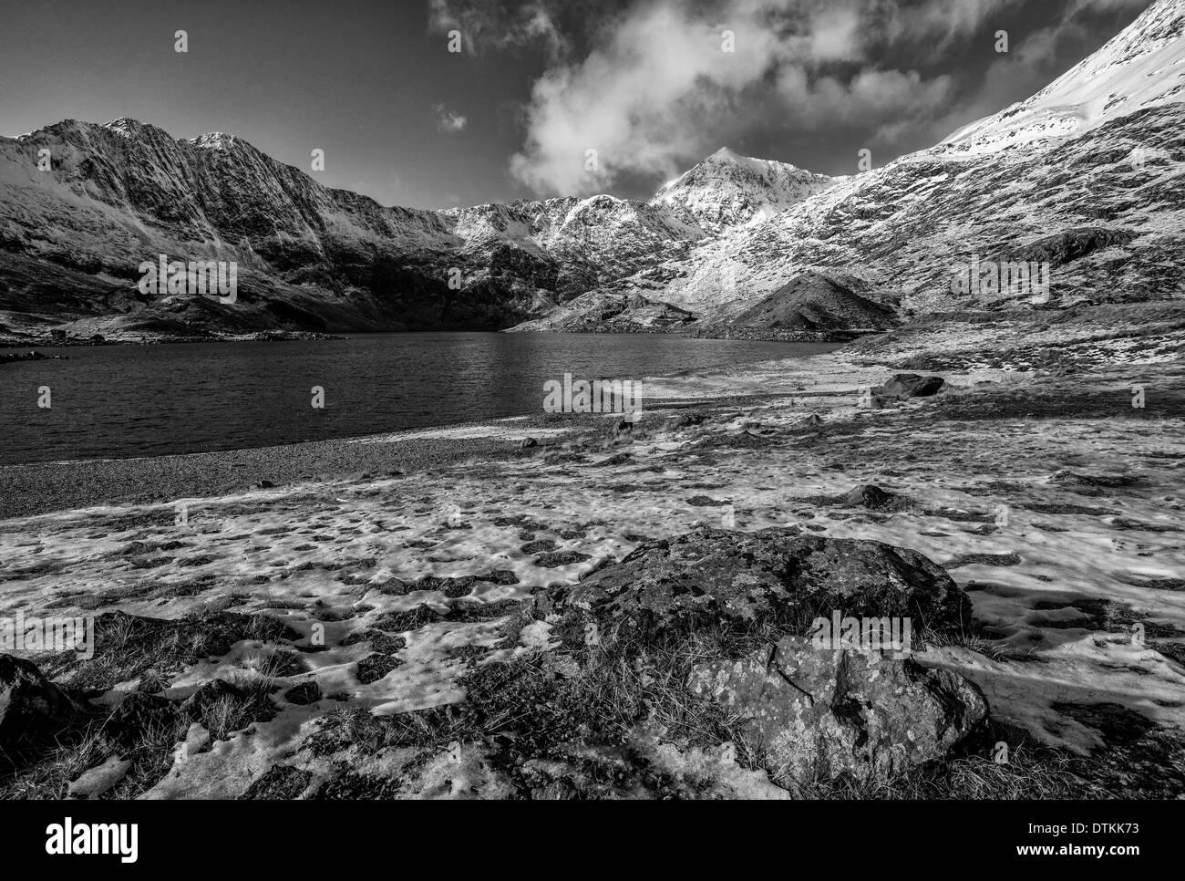 Snowdon in winter - Stock Image
