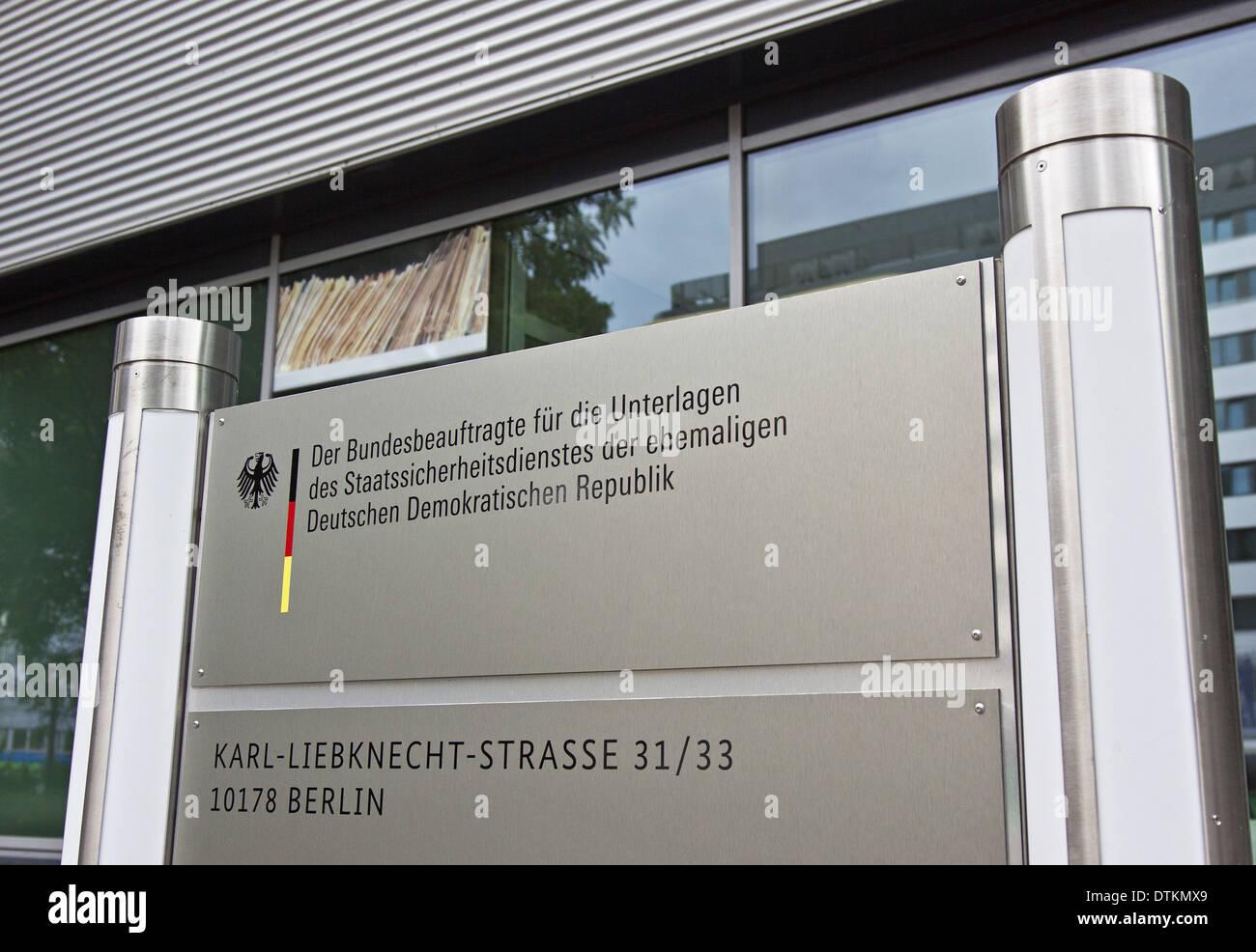 Stasi security files - Stock Image