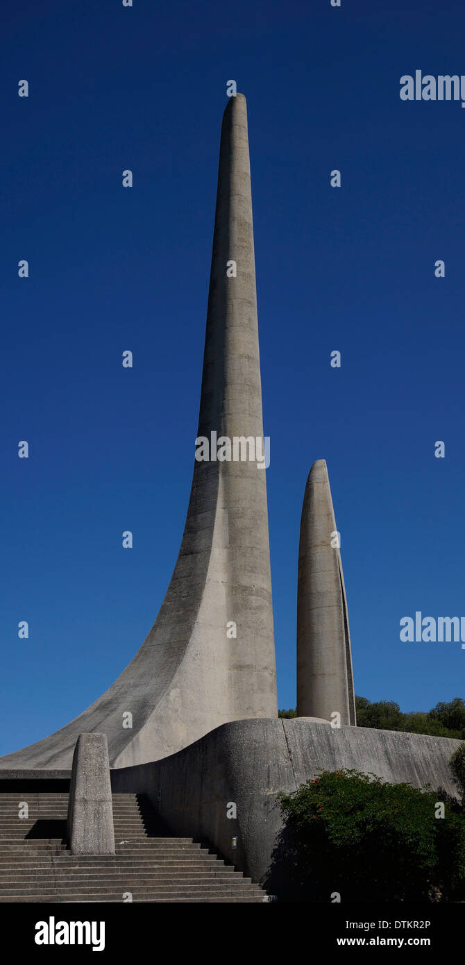 The Afrikaans Language Monument ( Die Afrikaanse Taalmonument) is located in Paarl, Western Cape Province, South Africa. - Stock Image