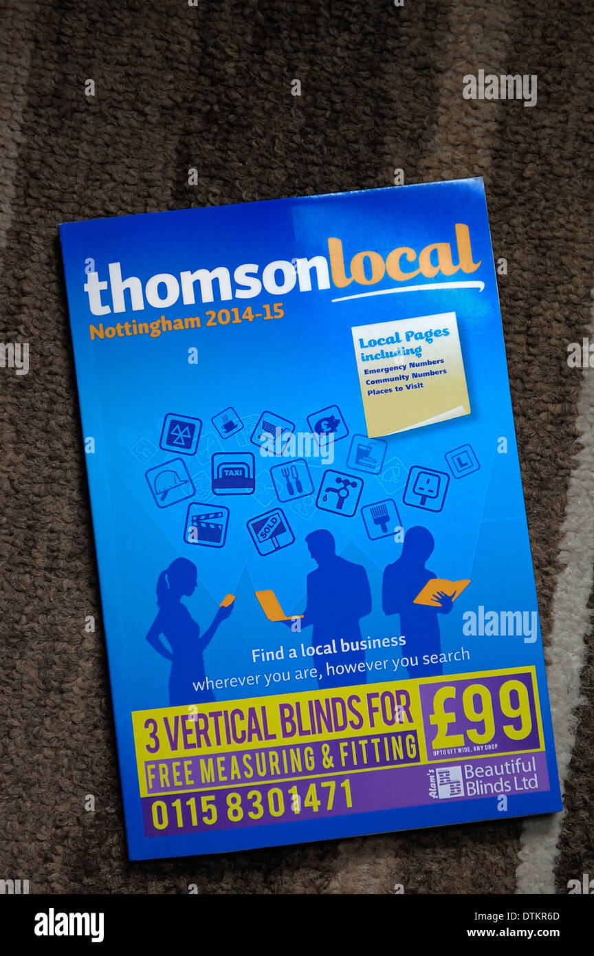Thomson local business directory phone book Stock Photo