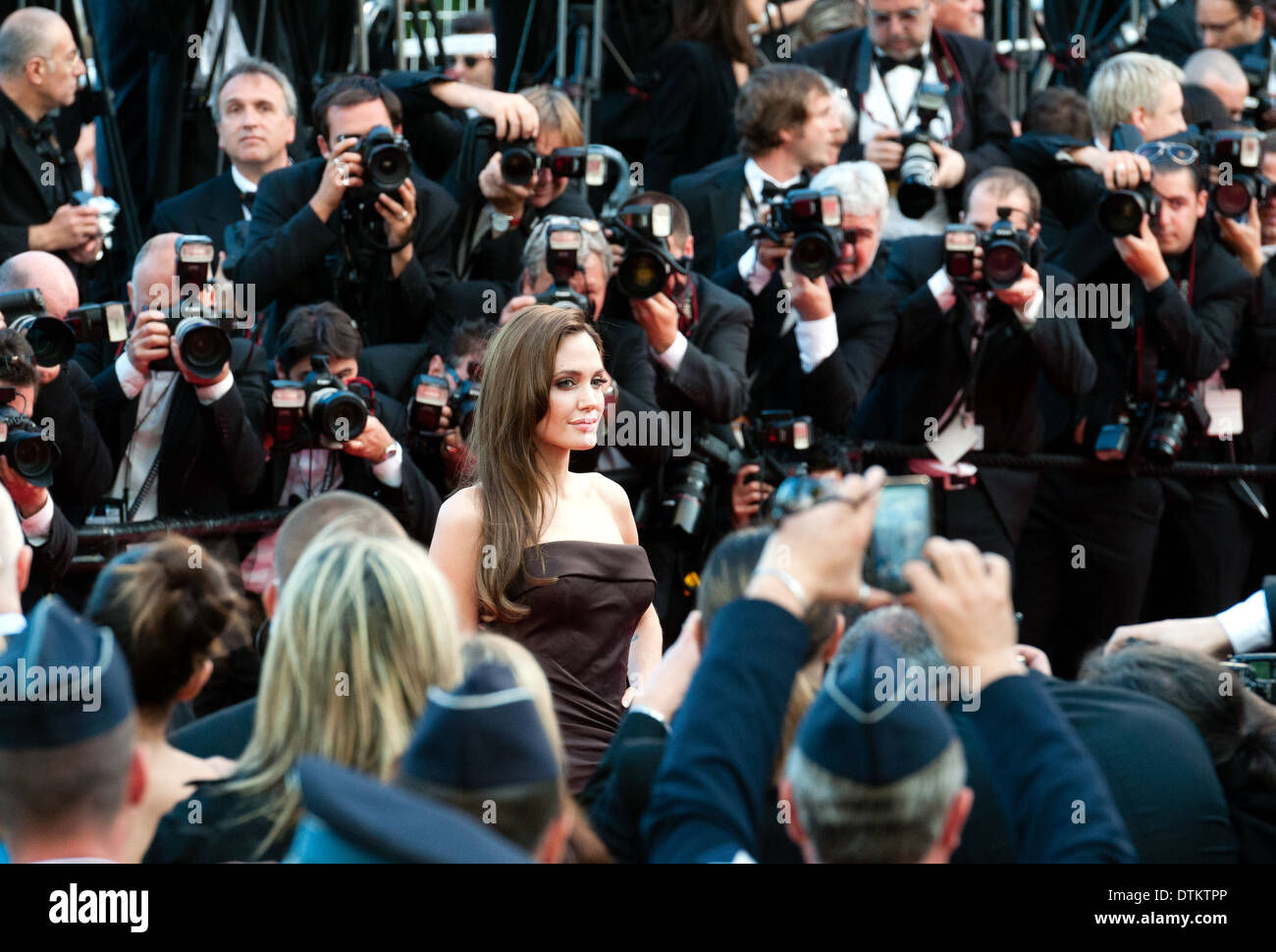 Europe, France, Alpes-Maritimes, Cannes film festival. The actress Angelina Jolie. - Stock Image